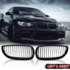 Gloss Black Front Kidney Grill Grille For Bmw E92 E93 328i 335i M3 Coupe 2dr L