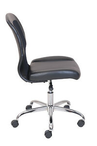Vinyl Mesh Executive Armless Office Computer Task Desk Chair Padded Seat Back
