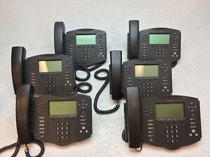 Lot Of 6 Polycom 2201 11601 001 Soundpoint Ip 601 Sip Voip Phones W Stand