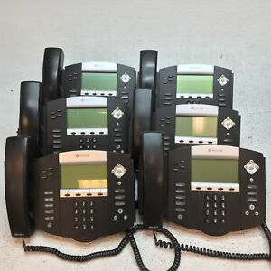 Lot Of 6 Polycom Soundpoint Ip 550 Ip550 2201 12550 001 Phones W stand