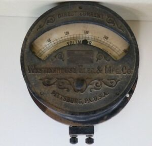 Antique Westinghouse Electric Manufacturing Co Direct Current Volt Meter