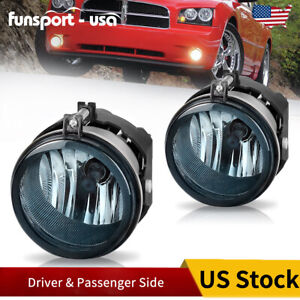 For Dodge Challenger Charger Nitro Avenger Caliber Smoke Fog Lights Bumper Lamps
