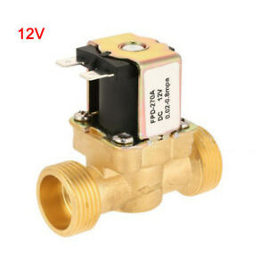 1 2inch Copper Electric Solenoid Valve Magnetic Dc12v N c Water Air Inlet Switch