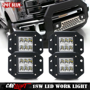4x Flush Mount Rear Led Tail Front Fog Lights Bumper For Jeep Jk Tj Cj Truck