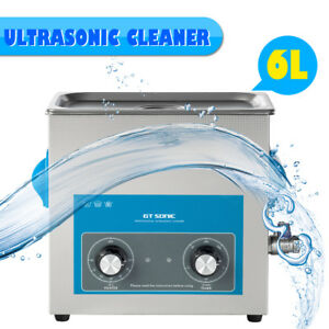 6l Ultrasonic Cleaner Jewelry Glasses Stainless Steel Dental Cleaning 300w Heat