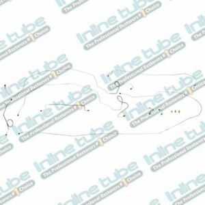 1962 64 Chevrolet Impala Complete Preformed Disc Brake Line Conversion Kit 7p Oe