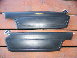 1968 Chrysler Imperial Black Sunvisors Lebaron Crown Coupe Oem