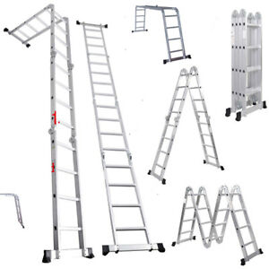 15 5ft Multi Purpose Extendable Folding Step Ladder Scaffold High quality 4 7m