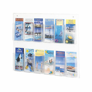 Office Accessories Clear Magazine Racks Clear2c 12 Pamphlet Display