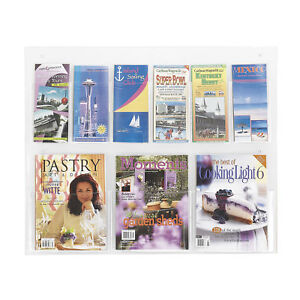 Office Accessories Clear Magazine Racks Clear2c 3 Magazine 6 Pamphlet Display