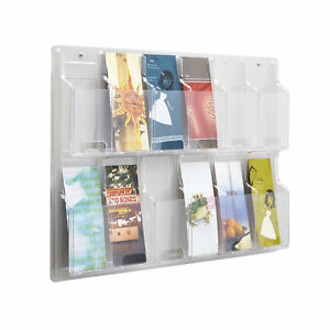 Office Accessories Petg plastic Clear Magazine Racks Reveal 12 Pamphlet Display