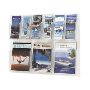 Office Accessories Clear Magazine Racks Reveal 3 Magazine And 6 Pamphlet Display