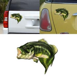 Car Bass Fish Fishing Stickers Boat Kayak Decals Truck Laptop Window 3d Sticker