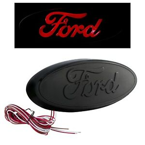 2004 2014 Ford F 150 7 Rear Tailgate Light Up Emblem Black W Red Led