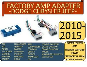 Factory Amp Adapter For 2005 2015 Selected Ram Jeep Chrysler Dodge Vehicles
