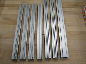80 20 Inc Quick Frame 1 x1 Right Angle And Straight Double Flange 7 Piece Lot