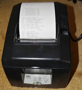 Star Micronics Tsp650 Thermal Receipt Printer W power Adapter Rj 45 To Serial