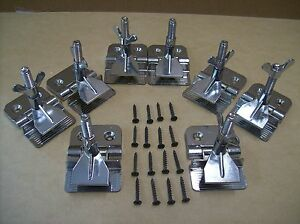 New 4 Pair Hinge Clamps For Silk Screen Printing With Mounting Screws