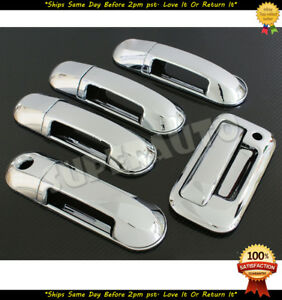 For 2007 2010 Ford Explorer Sport Trac Chrome 4dr Handle Tailgate Cover Trims