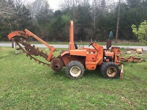 Ditch Witch 3210 Ride On Trencher With Trailer