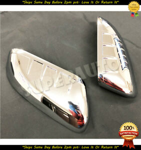 For 2011 2015 Ford Explorer Top Half Chrome Mirror Covers Overlays