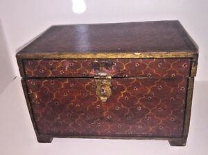 Antique Wooden Document Box Tea Caddy Spice Box Possibly Asian Japanese