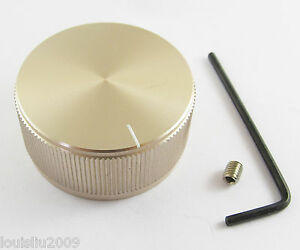 5pcs High Quality Champagne Color Aluminum Audio Rotary Pots Knob 40x19mm 40mm