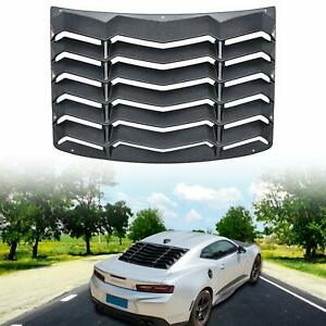 1x Rear Window Windshiled Louver Sun Shade Cover For Chevy Camaro 2016 2017 2018