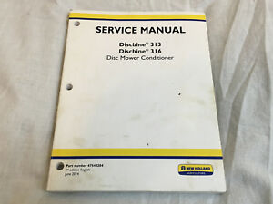 New Holland 313 316 Discbine Mower Conditioner Shop Repair Service Manual