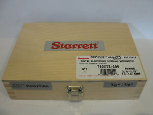 Starrett 780xtz 500 Digital Internal Micrometer 3 8 1 2 10 12 5mm 3 Pt 12024