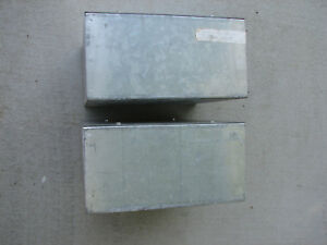 lot Of 2 Electrical Enclosure Junction Box 12 X 12 X 6 Screw Top