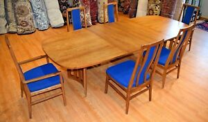 Vintage Mid Century Modern Founders Table 6 Chairs Dining Set