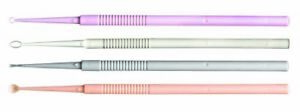 Ear Curette Miltex Single End Straight Fenestrated Oval Tip Box Of 50