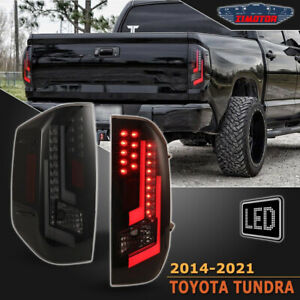 2014 2015 2016 2017 2018 Toyota Tundra Led Drl Brake Rear Tail Lights Lamp Smoke