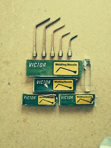 Five Victor Welding Nozzle Lot 00 w 1 w 3 w Two 5 w New To Used Condition