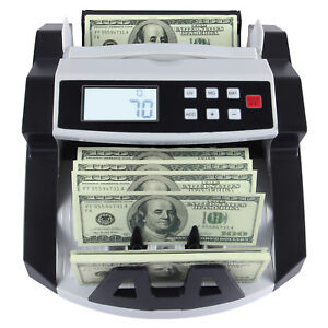 Cash Counting Machine Money Bill Counter Bank Counterfeit Detector Uv