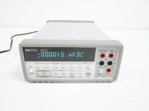 Hp 34401a 6 5 Digit Digital Multimeter Gpib Rs 232 Agilent Tested