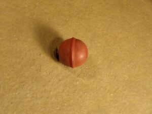 Vintage Red Round Drawer Knob Cabinet Door Pull Ball Early Plastic