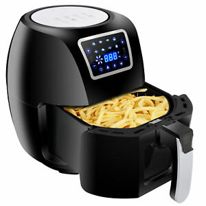 Deep Fryer Electric Digital Air Fryer Temperature Control Touch Screen 5 8qt