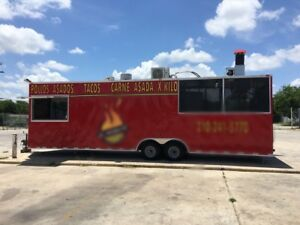 Food Trailer Concession 30ft X 8 5ft X 9ft V Nose 2016 With Porch Bbq Pit