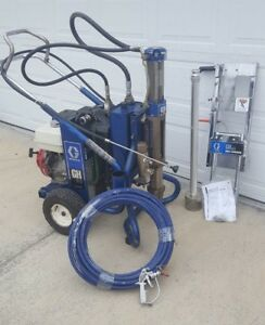 Graco Gh833 Hydraulic Gas Airless Paint Sprayer Complete Roof Rig