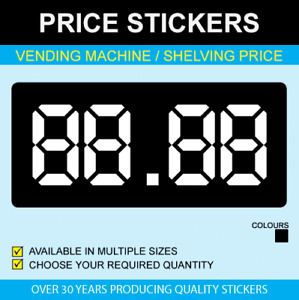 Vending Machine Shelf Edge Stickers