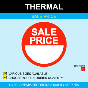Thermal Sale Price Stickers