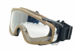 Outdoor FMA Airsoft Paintball Protective Helmet Glasses SI Ballistic Goggle DE
