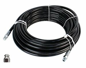 Sewer Jetter Kit Pressure Washer Hose Jetting Set Nozzle 4000 Psi Clogged Flush