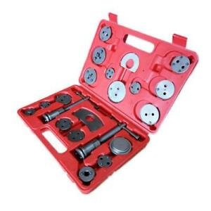 Universal 21pc Heavy Duty Disc Brake Caliper Piston Pad Wind Back Tool Set Case