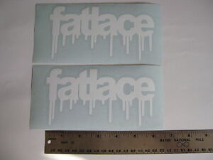 Two 6 Fatlace Any Color Sticker Decal Drift Race Car Window X2 Vip Jdm Illest