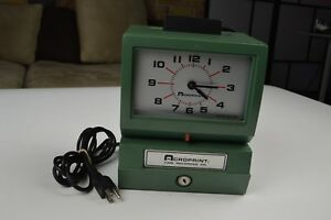 Acroprint Time Recorder Model 125nr4 Works But No Keys Fast Shipping