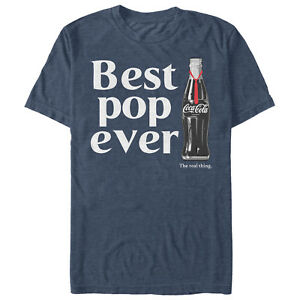 Coca Cola Best Pop Ever Bottle Mens Graphic T Shirt