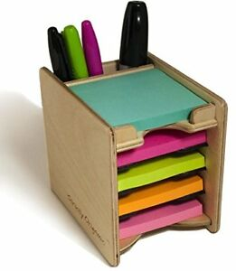 Strictly Origamic Colored Sticky Notes Pad And Pen Holder organizer includes Fi